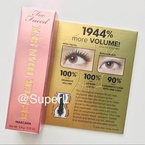 😍 3/$15 Travel Too Faced Better Than Sex Mascara
